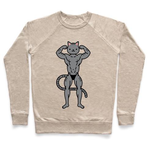 Buff Cat Grey Stripe Pullover