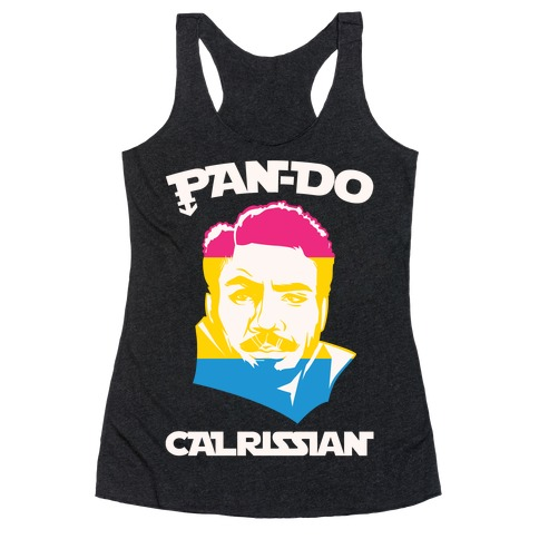 Pan-do Calrissian Parody White Print Racerback Tank Top