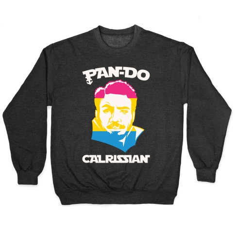 Pan-do Calrissian Parody White Print Pullover