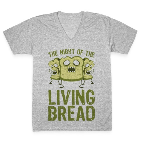 The Night Of The Living Bread V-Neck Tee Shirt