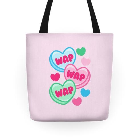 WAP WAP WAP Candy Hearts Parody Tote