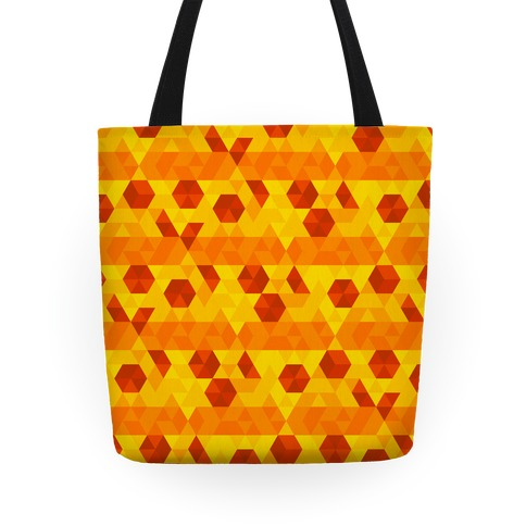 Geometric Pizza Tessellation Tote