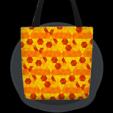 Geometric Pizza Tessellation Tote