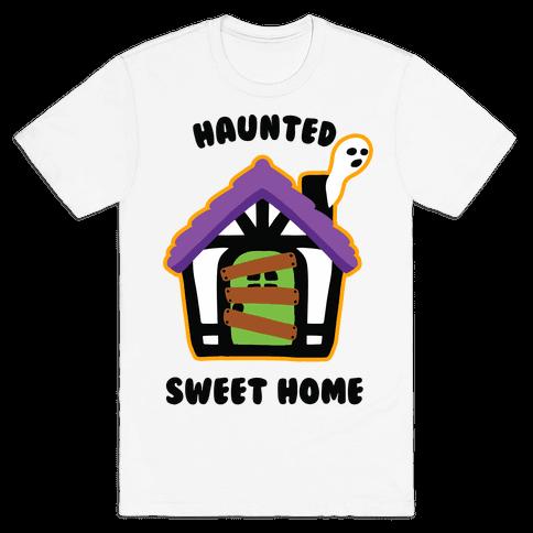 Haunted Sweet Home Mens/Unisex T-Shirt