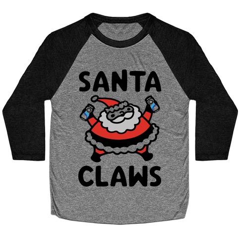 Santa Claws Parody Baseball Tee