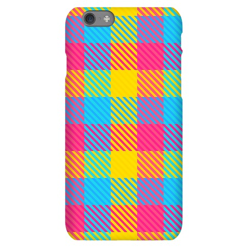 Pan Pride Flag Plaid Phone Case
