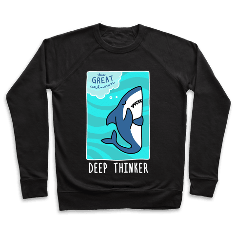Deep Thinker Shark (White) Pullover