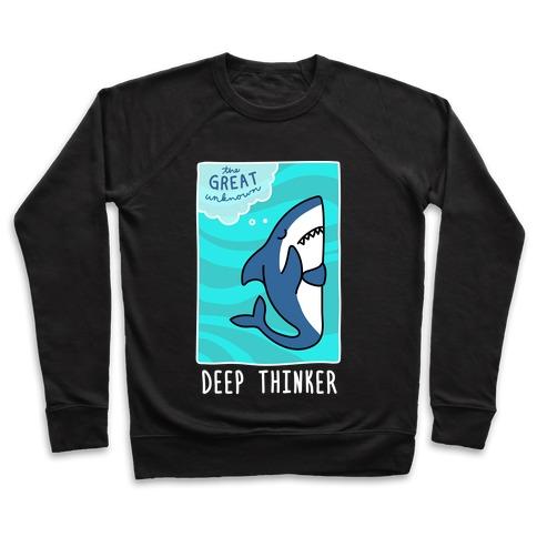 Deep Thinker Shark (White) Pullover
