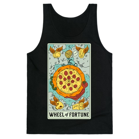 Wheel Of Fortune Pizza Tank Top