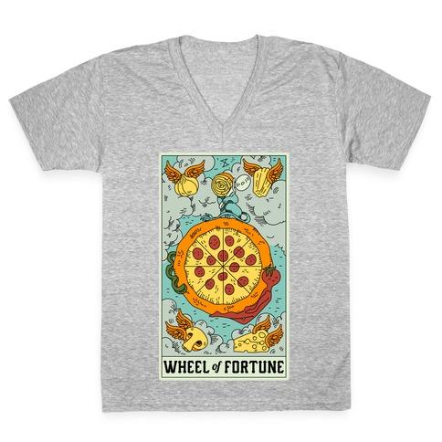 Wheel Of Fortune Pizza V-Neck Tee Shirt