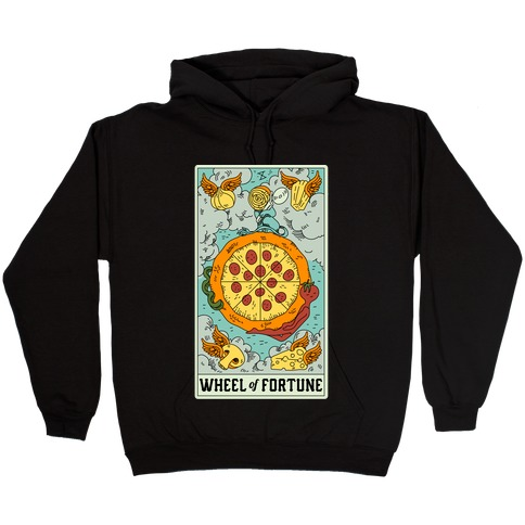 Wheel Of Fortune Pizza Hooded Sweatshirt