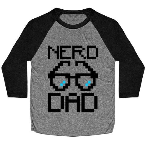Nerd Dad Baseball Tee