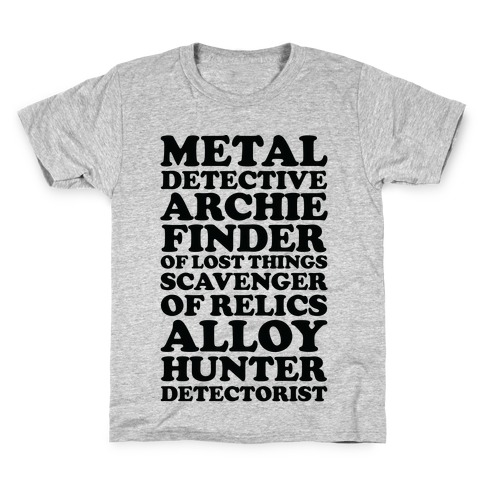 Metal Detective Archie Finder Of Lost Things Kids T-Shirt