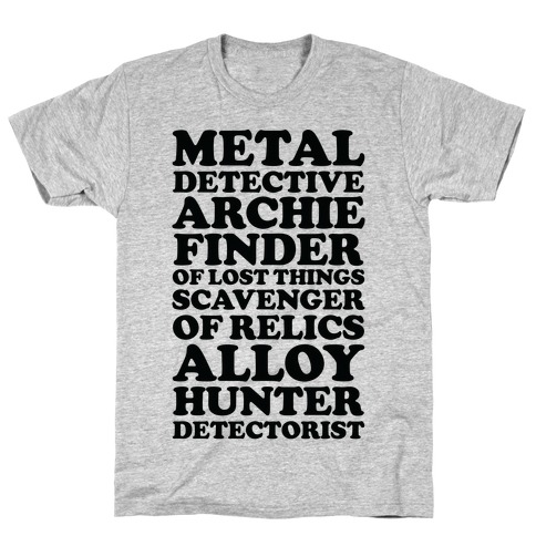 Metal Detective Archie Finder Of Lost Things T-Shirt