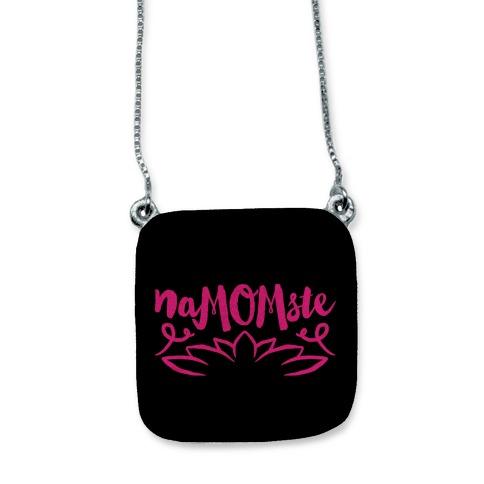 NaMOMste Yoga Mom Parody necklace