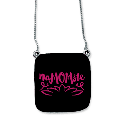 NaMOMste Yoga Mom Parody necklace