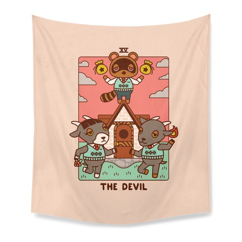 The Devil Tom Nook Tapestry