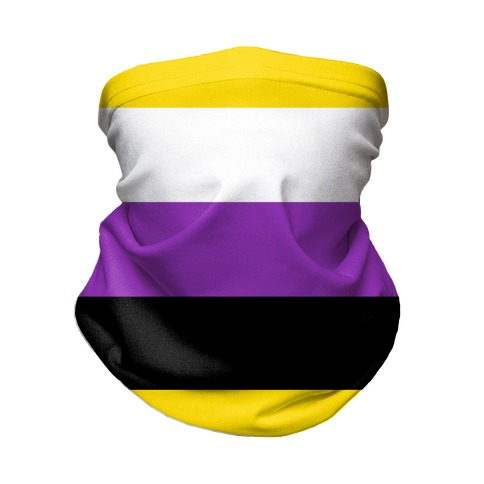 Non Binary Pride Flag Neck Gaiter