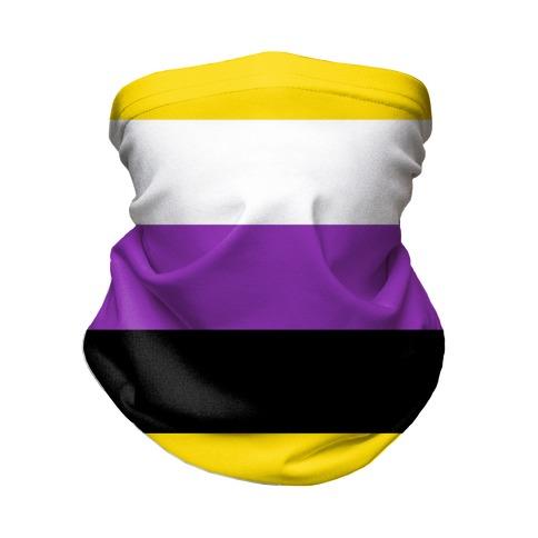 Non Binary Pride Flag Neck Gaiter