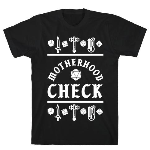 Motherhood Check T-Shirt