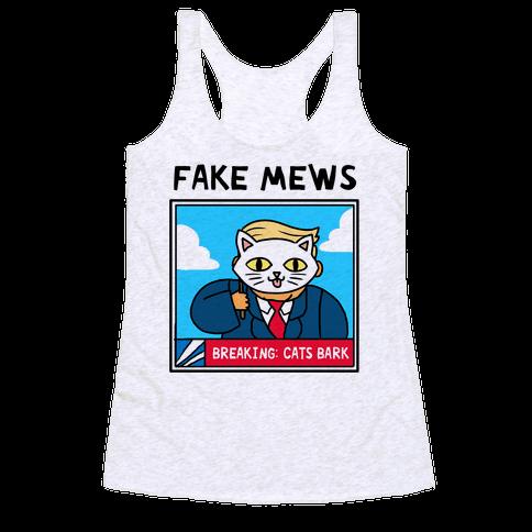 Fake Mews Racerback Tank Top