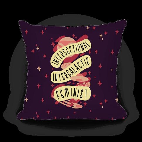 Intersectional Intergalactic Feminist Pillow
