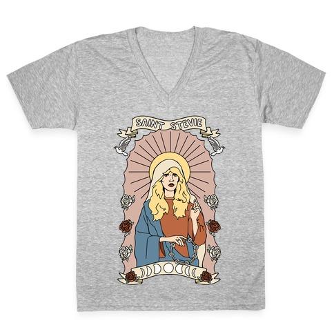 Saint Stevie Parody V-Neck Tee Shirt