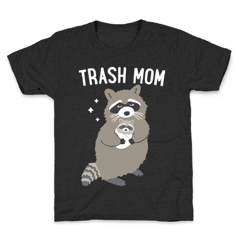 Trash Mom Raccoon Kids T-Shirt