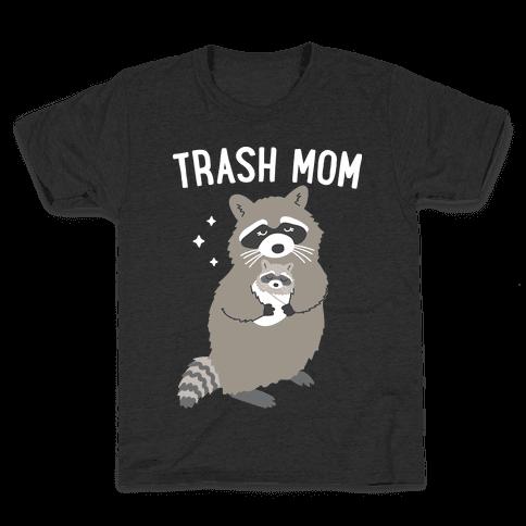 Trash Mom Raccoon Kids T-Shirt