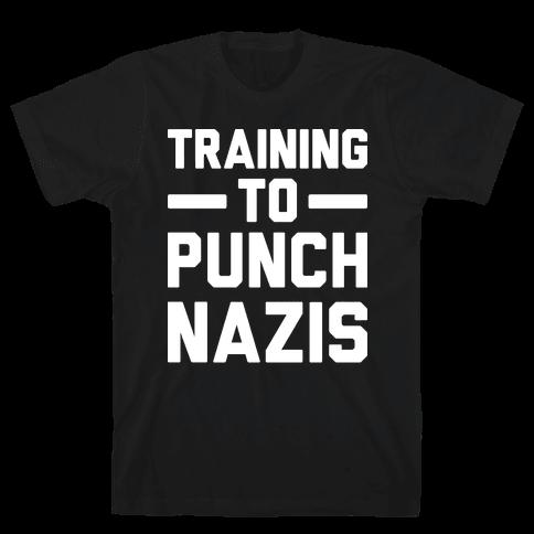 Training To Punch Nazis Mens T-Shirt