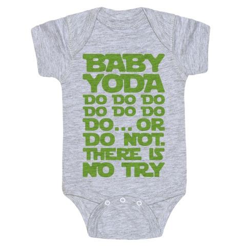Baby Yoda Baby Shark Parody Baby Onesy