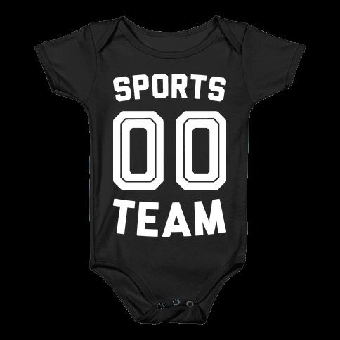 Sports 00 Team (White) Baby Onesy