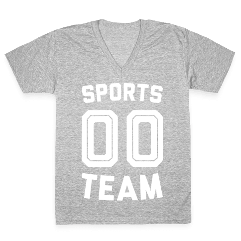 Sports 00 Team (White) V-Neck Tee Shirt