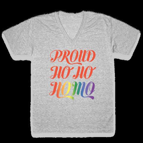 Proud Ho Ho HOMO V-Neck Tee Shirt