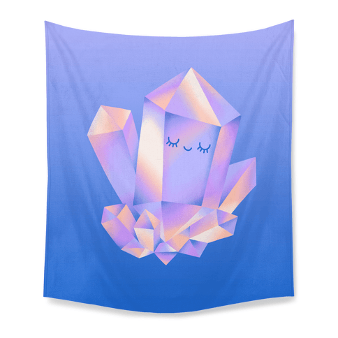 Happy Healing Crystal Tapestry