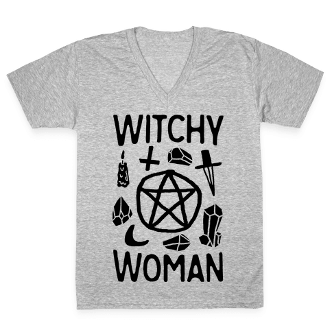 Witchy Woman V-Neck Tee Shirt