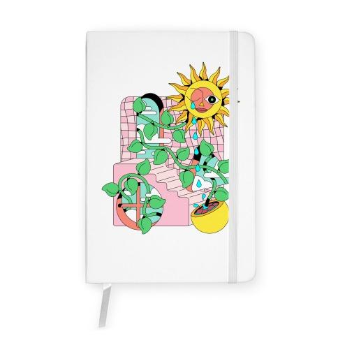 Trippy Sunflower Shower  Notebook