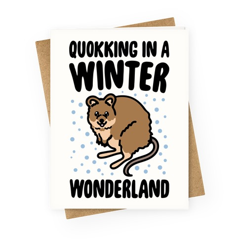 Quokking In A Winter Wonderland Greeting Card