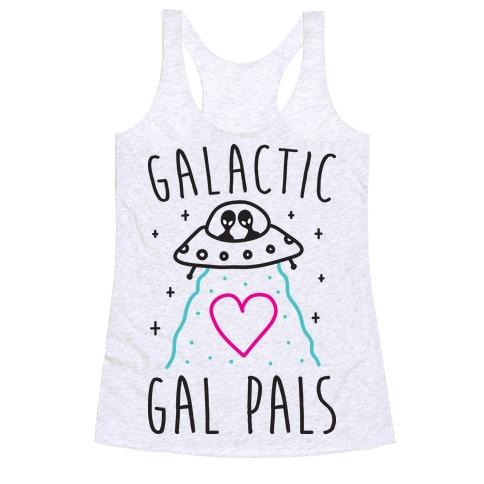 Galactic Gal Pals Aliens Racerback Tank Top
