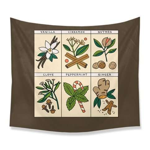 Holiday Spice Botanicals Tapestry