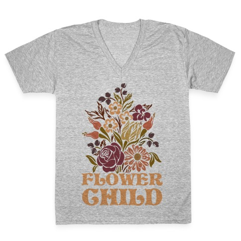 Flower Child V-Neck Tee Shirt