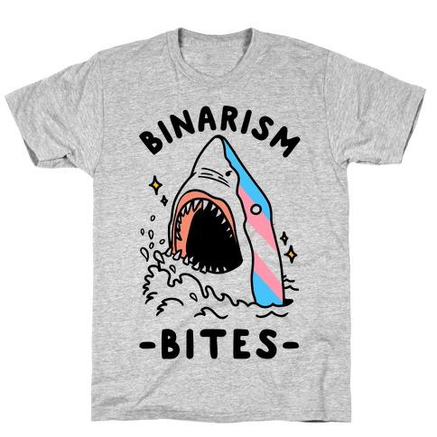 Binarism Bites Transgender Mens/Unisex T-Shirt