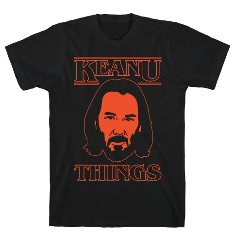 Keanu Things Parody White Print T-Shirt