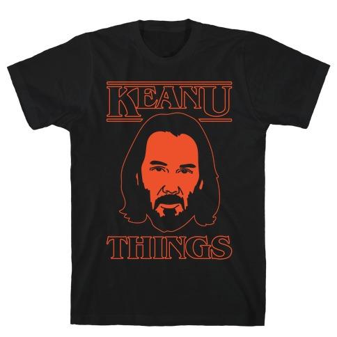 Keanu Things Parody White Print T-Shirt