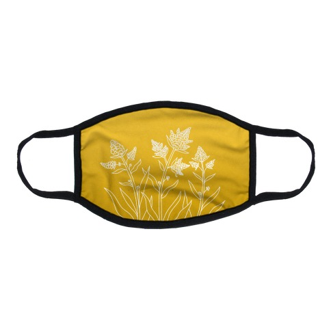 Golden Rod Gradient Flat Face Mask
