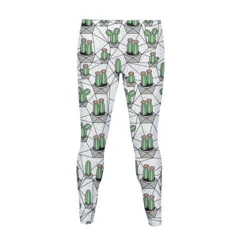 Geometric Cactus Pattern  Women's Legging