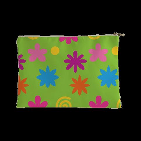 2000's Funky Flower Pattern Accessory Bag