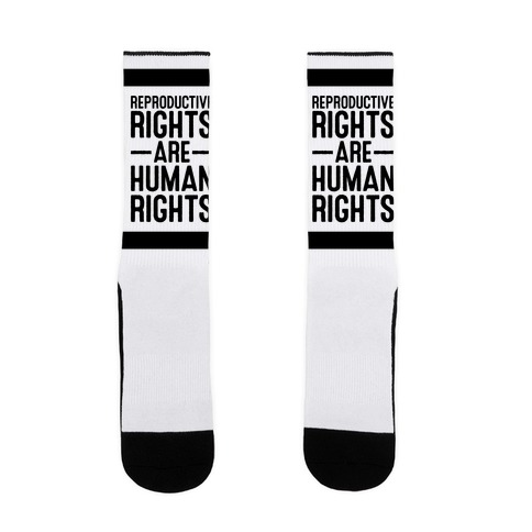 Reproductive Rights Are Human Rights Sock
