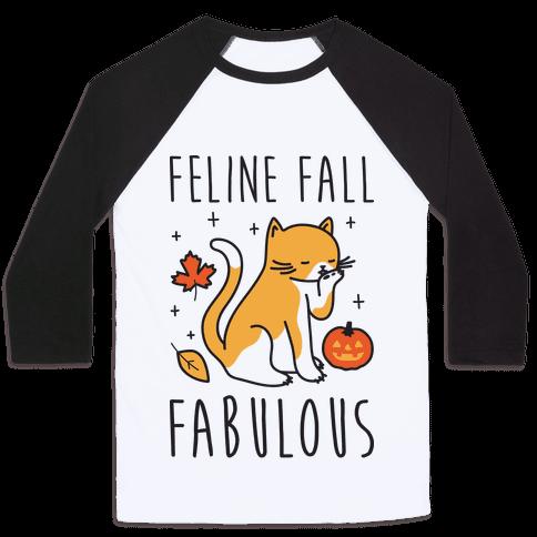 Feline Fall Fabulous Baseball Tee