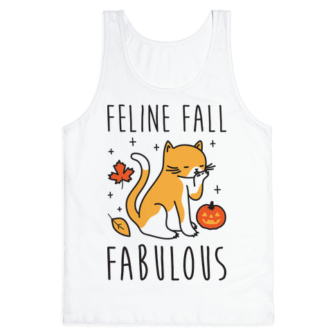 Feline Fall Fabulous Tank Top
